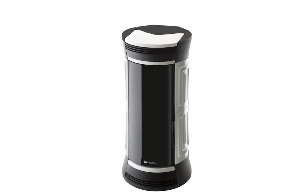 Stufa morettidesign turbo clessidra all style 9-11-13kw ventilata/canalizzata