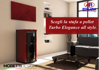 ARedilizia stufa moretti design  turbo elegance all style