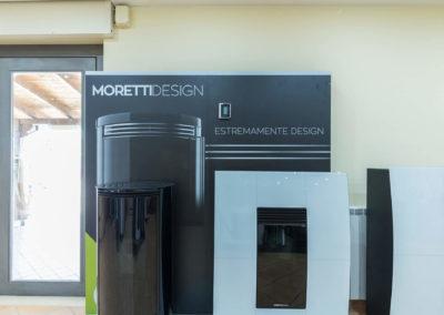 stufa a pellet slim compact glass Moretti design