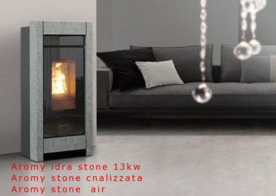 Stufa A PELLET Thermorossi Aromy idra stone 13.5kw