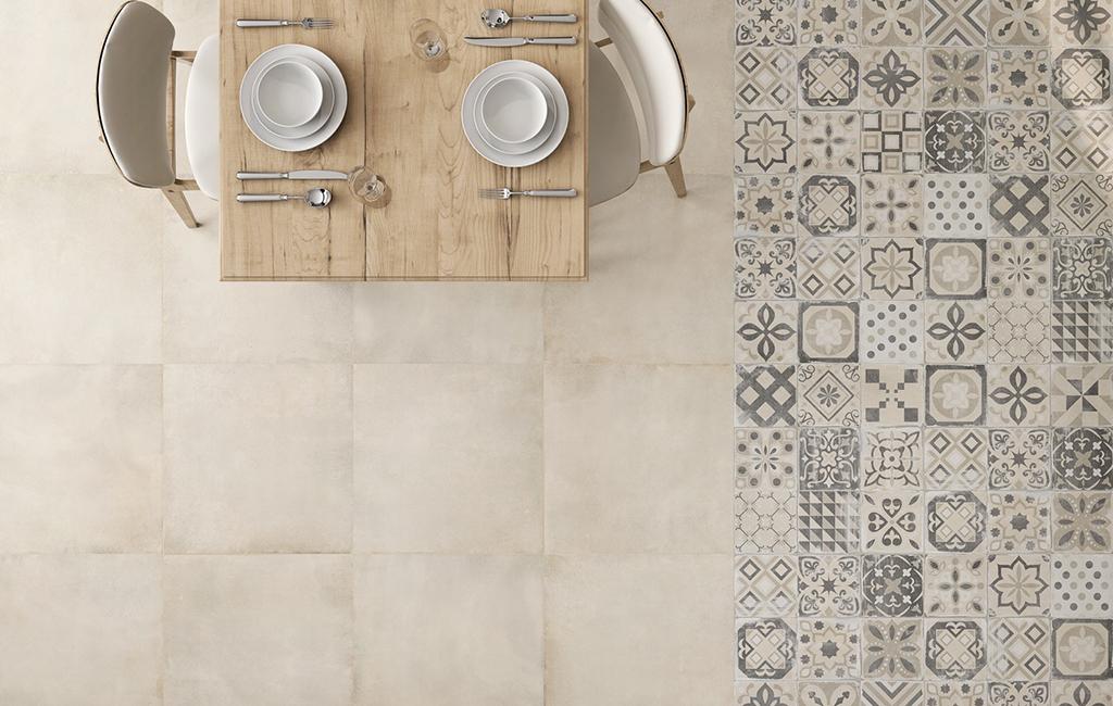 American Tile Loft beige pavimento effetto cemento rettificato