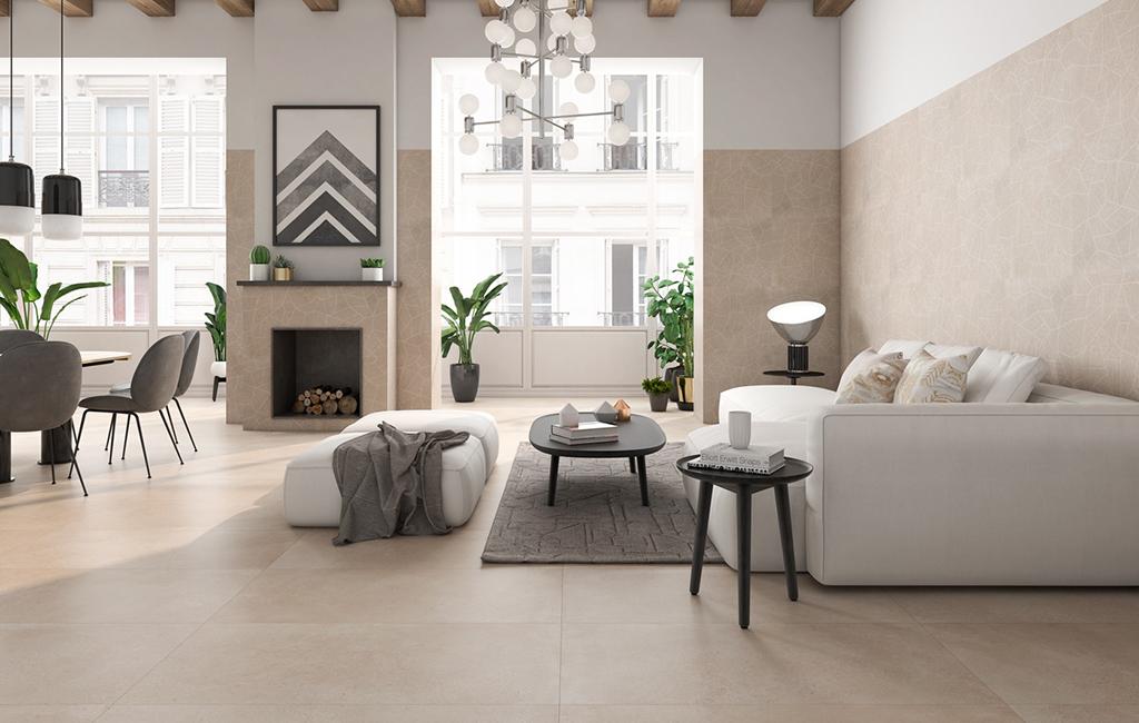 pavimento effetto cemento