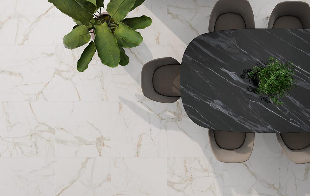 Pavimento effetto marmo prima scelta