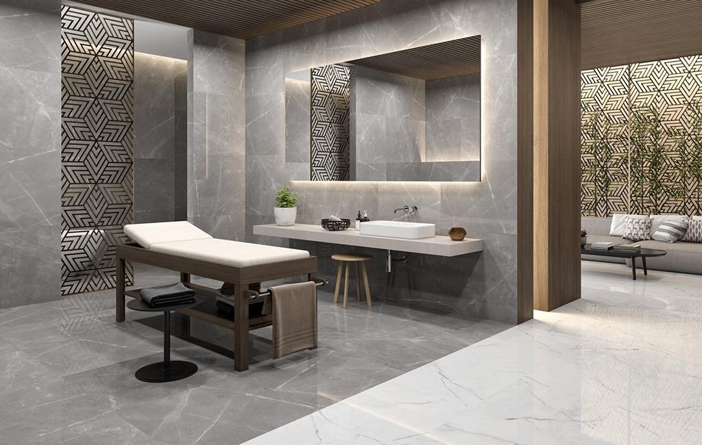 pavimento e rivestimento ceramiche rondine canova effetto marmo