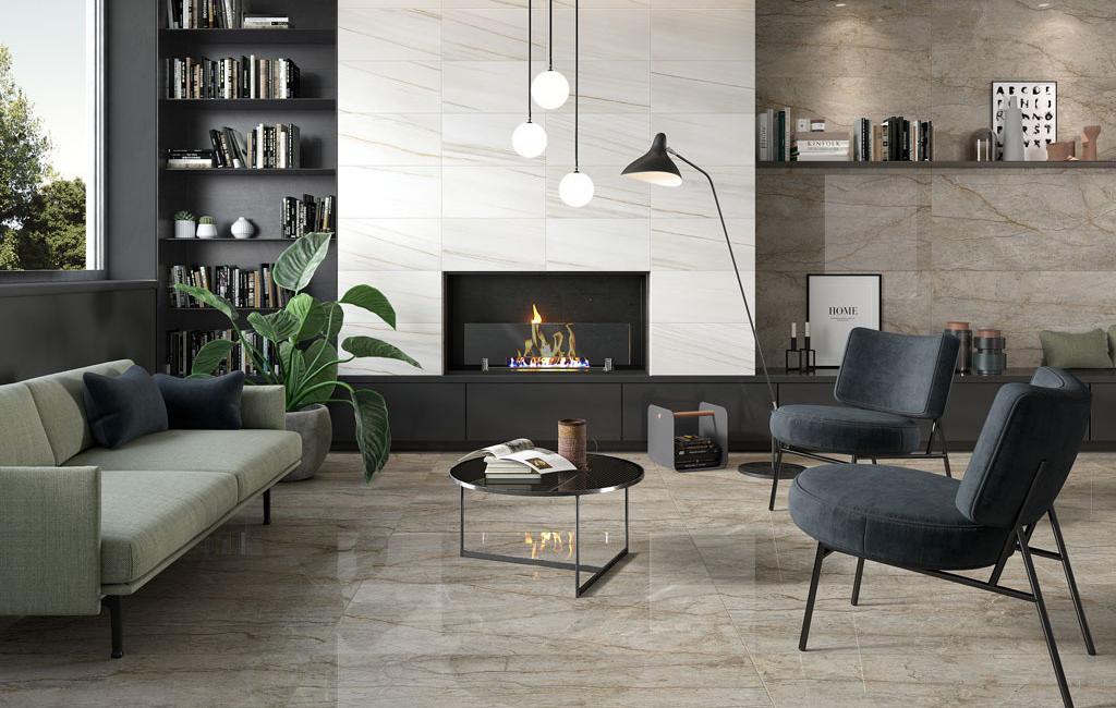 Pavimento efetto marmo ceramiche rondine