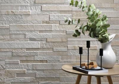 Rivestimento effetto pietra 3d ceramica rondine